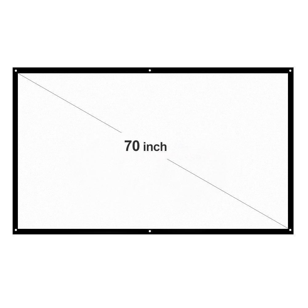 FidgetFidget Projector Portable Outdoor 70' Screen Foldable White HD 16:9 Home Theater Y1W6