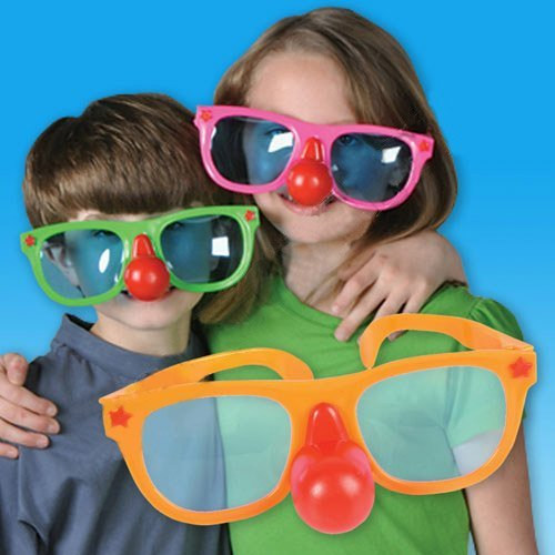 [Jumbo Clown Glasses With Red Nose] (Clown Glasses)