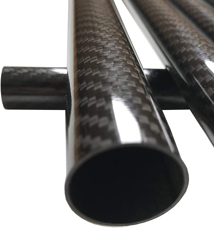 SZQL Carbon Fiber Tube,3K high tensile Strength Twill Glossy Surface for RC Airplane Glossy Surface Pole,500mm,Outer:17mmInside:14mm