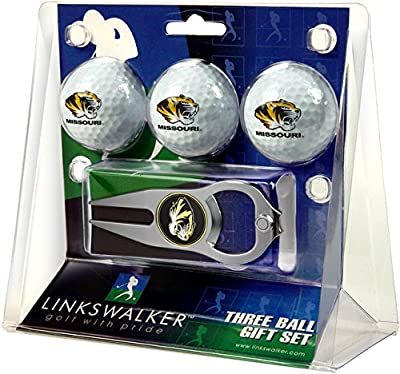 NCAA Missouri Tigers - 3 Ball Gift Pack with Hat Trick Divot Tool