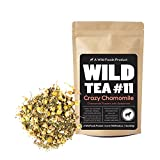 Chamomile Mint Tea, Wild Tea #11 Premium Whole Chamomile Flowers with Spearmint by Wild Foods – Organically Grown Ingredients (4 ounce)