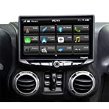 """STINGER Jeep Wrangler JK Stereo Replacement 10"""" HD Touchscreen Radio with Android Auto, Apple CarPlay, Handsfree Bluetooth, G"""