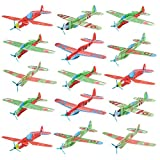 WATINC 36pcs Glider Airplanes, Birthday Party Plane, Manual Throwing, Challenging, Outdoor Sports Toy, Flying Model Foam Airplane, Kids Gift Fun (Glider Plane 36P)