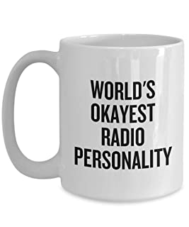 Radio Personality Gift - Funny Radio Presenter Gift - Radio Host Mug - World's Okayest Radio Personality - Radio Presenter