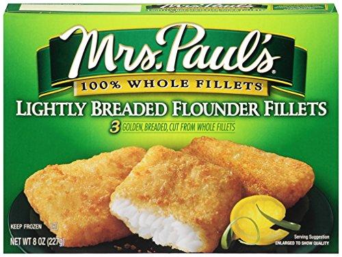 Mrs. Paul's Lightly Breaded Flounder Fillets, 3 Count ()