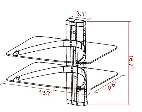 Amazon Com Meharbour Floating Wall Mounted Shelf With Strengthened