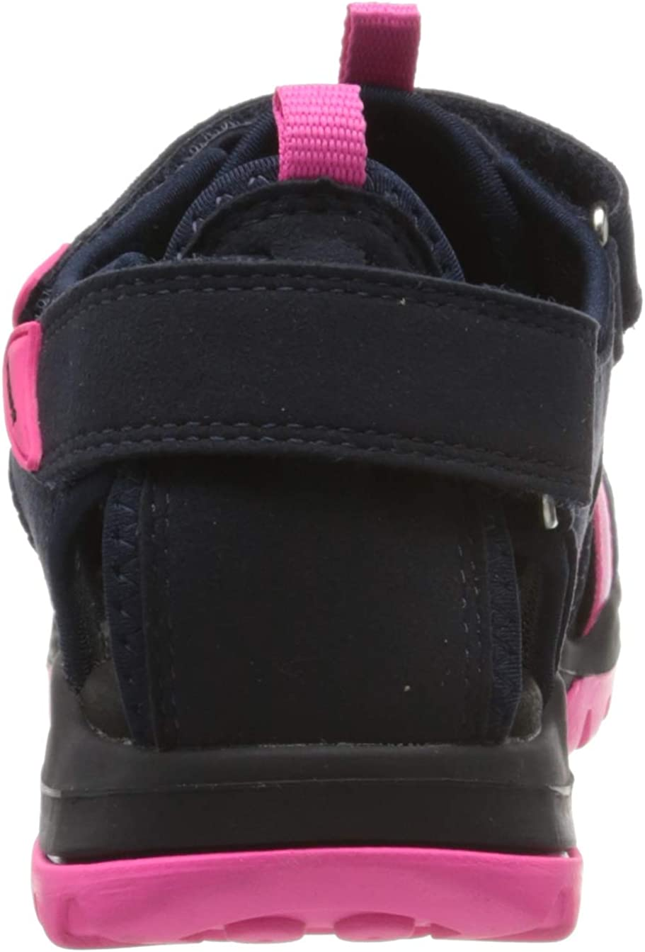 Geox D Borealis A, Sandali con Cinturino alla Caviglia Donna Rosa Dk Navy Fuchsia C4365