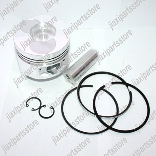 JXPARTS 86mm Bore Chinese 186 186F Diesel Engine Piston Kit for Yanmar L100 and Chinese 186F Diesel Engine
