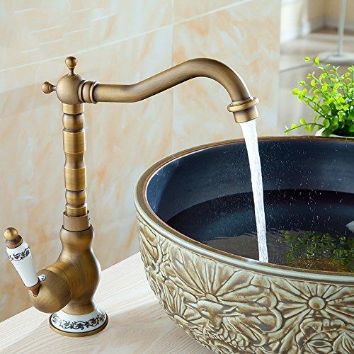 Furesnts casa moderna cucina e bagno rubinetto tutti antichi rame rubinetto miscelatore Cucina Bagno lavandino rubinetti da cucina calda e fredda rubinetto miscelatore Cucina Bagno Bagno Cucina rubinetti miscelatori acqua rubinetto Miscelatore lavandino cu