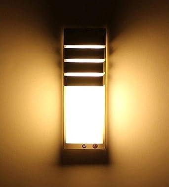 HZHYYW - Aplique LED para exterior Aplique para pasillo Pasillo Aplique para jardín impermeable para exteriores: Amazon.es: Iluminación