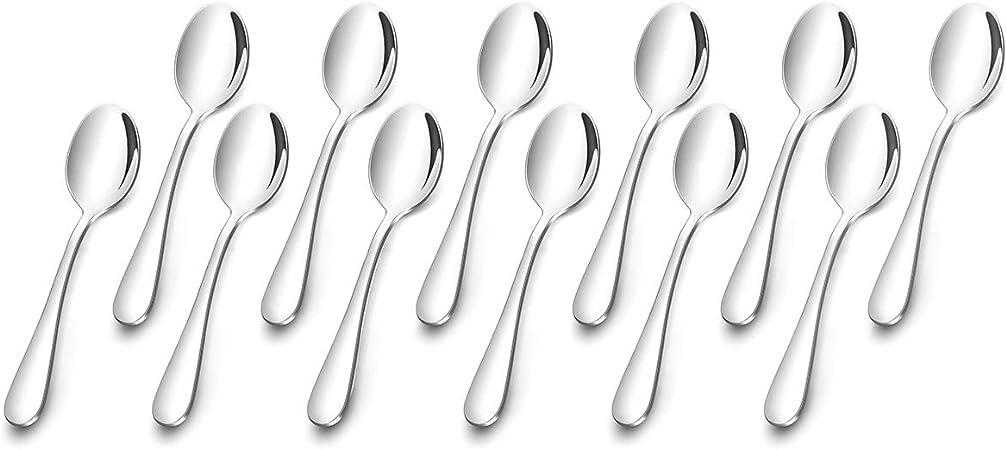 AckMond 12 pezzi fine in acciaio INOX resistente e specchio lucidatura set forchette forchette da tavola 20 cm, 20,3 cm