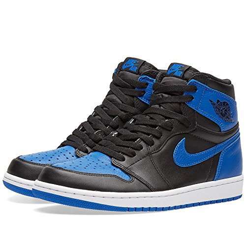 c44a96f8243c30 ... black royal white 007). 50%OFF nike air jordan 1 retro high OG mens  basketball trainers 555088 sneakers shoes