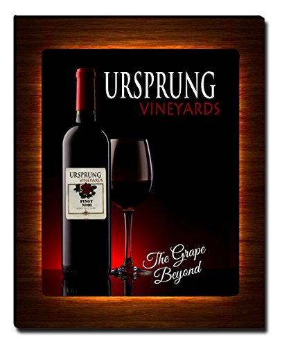 ZuWEE Wine Themed Canvas Print Personalized with The Ursprung Family Name