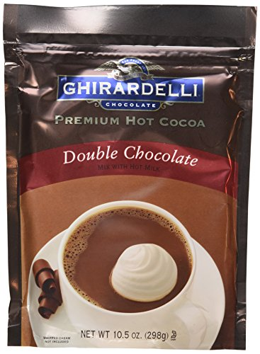 Ghirardelli Hot Cocoa Mix Double, 10.5 oz, Pack of 3 - Ghirardelli Double Chocolate