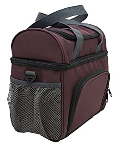 33002 Amaro Durable Delux Insulated Lunch Cooler Bag, One Size (Brown)