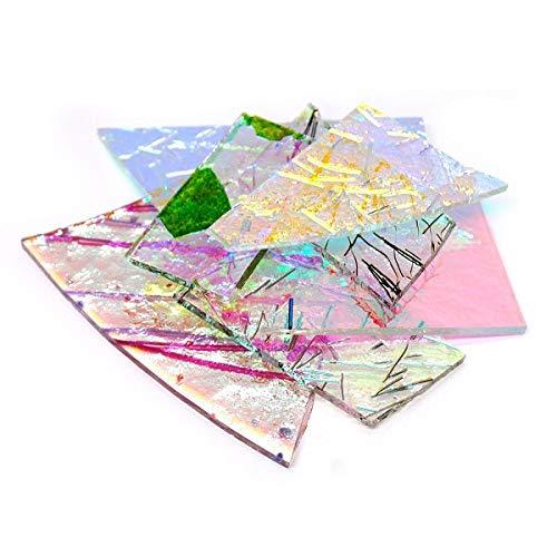 (Fusing Glass Supplies - 1/4 Pound Specialty Dichroic Scrap Glass CBS COE 90)