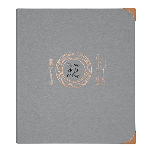 C.R. Gibson Recipe Book, Durable 3-Ring Binder, Holds 40 ...