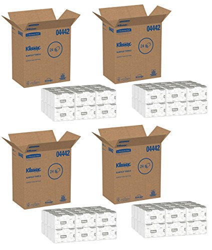 Kleenex 04442 Slimfold Paper Towels, 7 1/2 x 11 3/5, White, 90 per Pack (Case of 24 Packs), 4 Case by Kimberly-Clark Professional