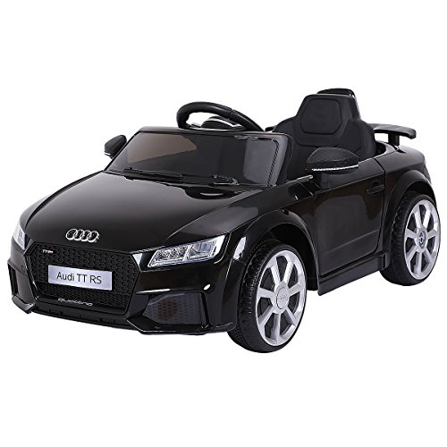 Costzon Kids Ride On Car, Licensed 12V Audi TT RS, Remote Control Manual Two Modes Operation, MP3 Lights (Black)