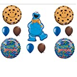 Cookie Monster Sesame Street Birthday Party Balloons Decorations Supplies