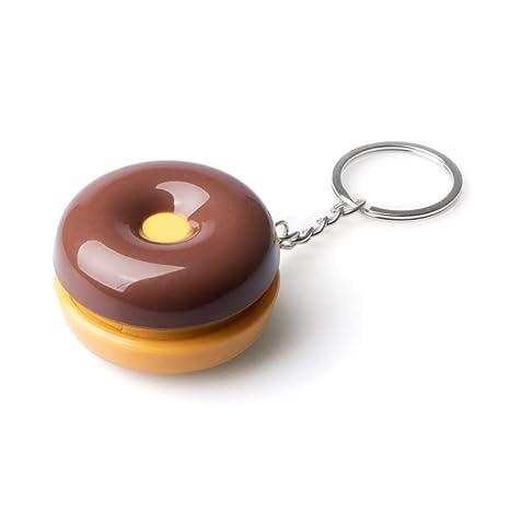 Balvi Llavero & Pastillero Donut de Chocolate para Llevar Las Llaves y Guardar Pastillas o Caramelos Metal/plástico