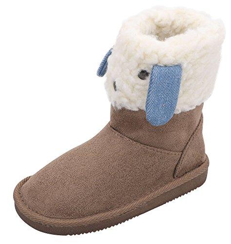 er Snow Boots Faux Fur Animal Pattern Snow Boots Camel 13 (Faux Fur Kids Boots)