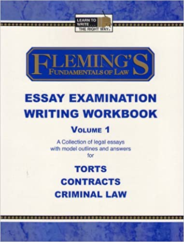 fleming s fundamentals of law essay examination writing workbook fleming s fundamentals of law essay examination writing workbook vol 1 jeff alan fleming susan patricia sneidmiller 9781932440584 com books