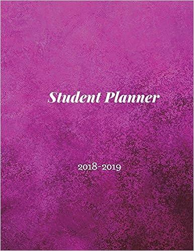 student planner 2018 2019 student planner book high school student