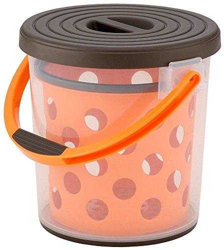 [해외]イノマタ 화학 물통 다용도 스플래시 10 브라운 & 오렌지 / Innomata Chemical Bucket Multipurpose splash 10 Brown & Orange