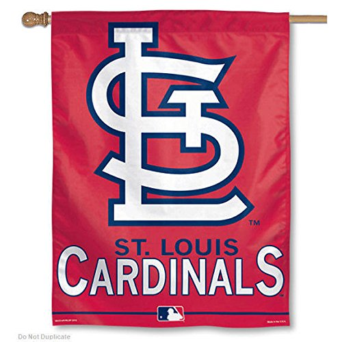 "MLB St. Louis Cardinals 02906015 Vertical Flag, 27"" x 37"", Black"