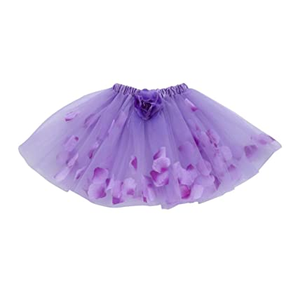 Faldas bebé Niña Verano ❤ Amlaiworld Linda Niñas Bebés Faldas de Ballet de Tutú Floral