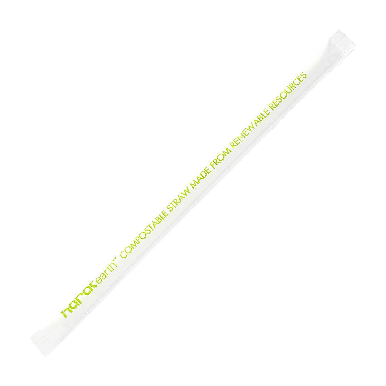 Karat Earth KE-C9210 7.75'' PLA Jumbo Clear Straws by KARAT EARTH