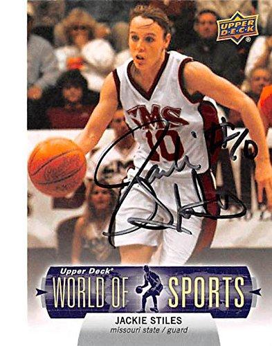 Jackie Stiles autographed basketball card (Southwest Missouri State University NCAA Scoring Leader) 2011 Upper Deck World #64 - Autographed Ncaa Basketball