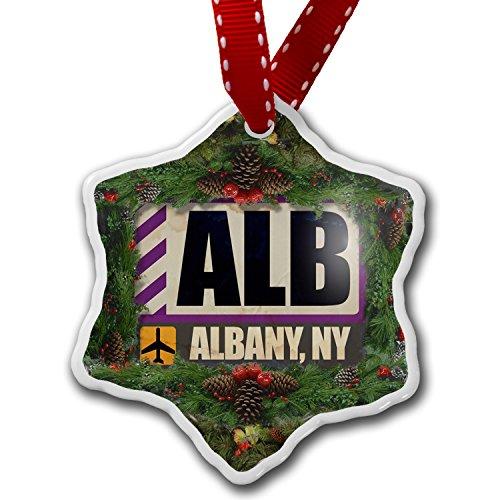 Christmas Ornament Airportcode ALB Albany, NY - Neonblond (Albany Ny Christmas Tree)