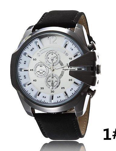 G & g & Hombre Casual reloj de cuarzo J falsos tres grande Dial correa