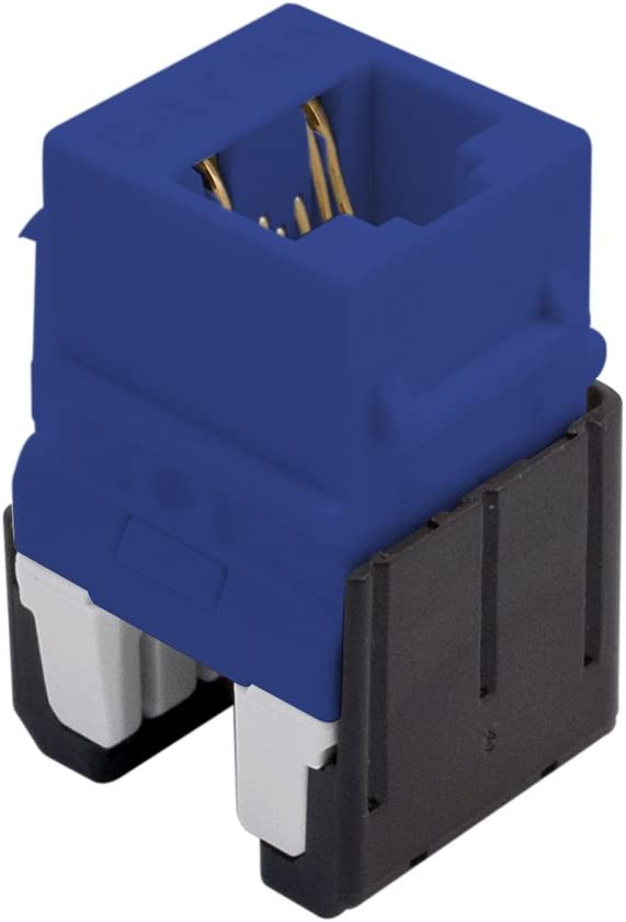On-Q WP346ABE Cat 6A Quick Connect RJ45 Keystone Insert Blue Legrand