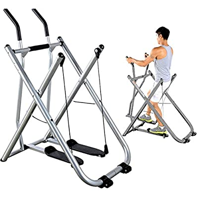 Air Walker Machine Indoor Fitness Exercise Foldable Elliptical Machine for Gym Home Office