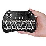 Favormates 2.4GHz Backlit Wireless Mini Keyboard H9 Pro, Mouse Touchpad Combo, Best For Android tv box,HTPC,IPTV,PC,Raspberry pi 3,Pad and More Device (white backlit mini keyboard)