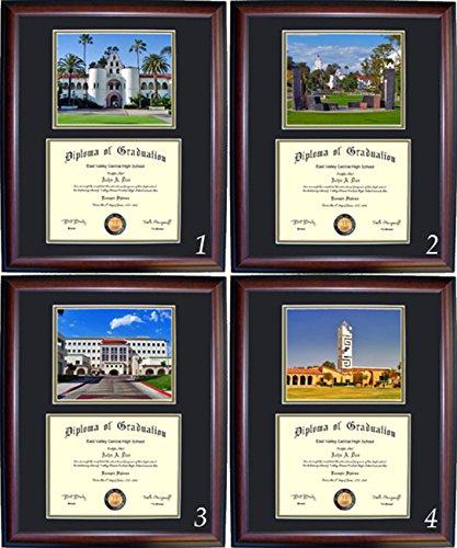 San Diego State Diploma Frame - Photo Option #1 - Cherry Frame