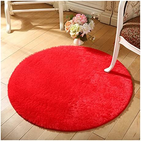 Bedroom Rugs /& Carpets Dining room ZAIQUN Khaki Round Cotton Rug 40 cm Circular Children Room Nursery or Interior Rugs Perfect for Living Room