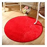 FUT Oval Braided Rug Fluffy Rugs Anti-Skid Shaggy Area Rug Multi Colors Carpet Floor Mats Best for Dining Room Home Bedroom Decoration & Baby Child Kids Playing
