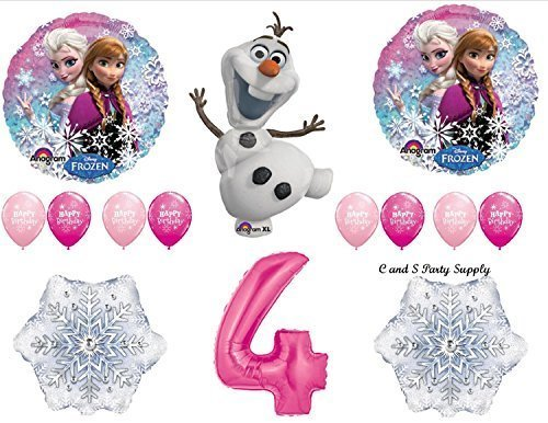 Frozen Pink 4th Disney Movie BIRTHDAY PARTY Balloons Decorations Supplies by Anagram by Anagram (Frozen Disney Decorations Party)