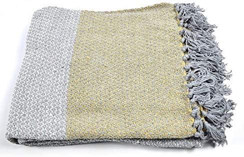 Indra - Manta para sofá o Cama (100% algodón, 130 x 150 cm), Color ...
