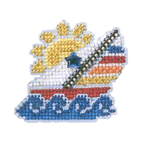 Sail Away Beaded Counted Cross Stitch Ornament Kit Mill Hill 2007 Spring Bouquet MH18-7105