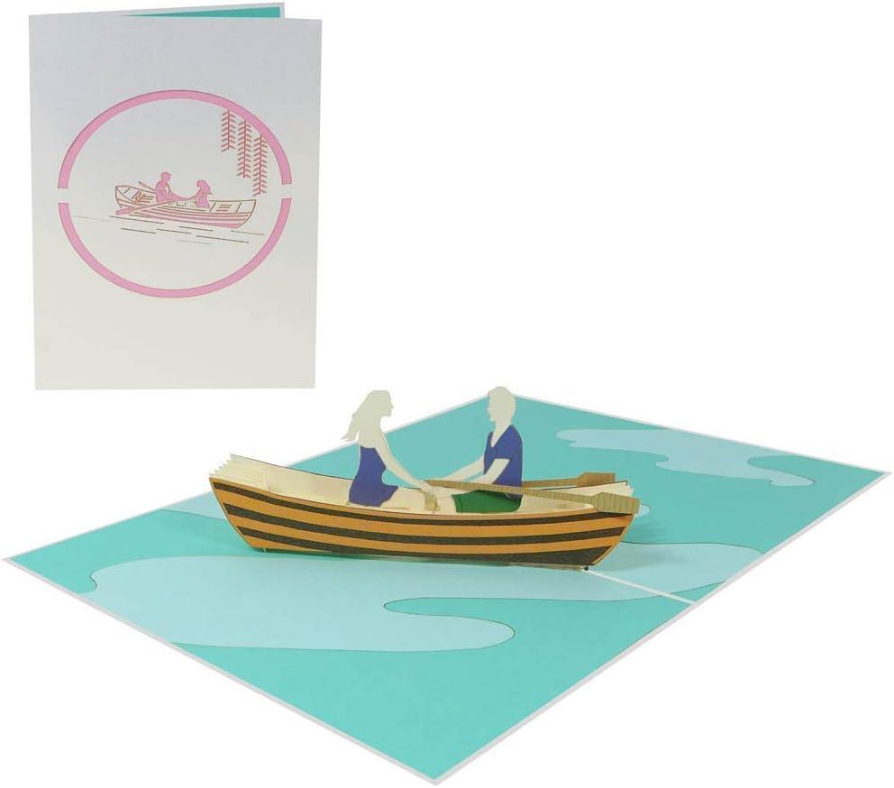 Couple et d/émarrage 033 Carte damour 3D pop up anniversaire f/élicitations voeux invitation La Saint Valentin vacances voyage de noces