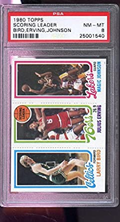 Amazoncom 1980 81 Topps Larry Bird Magic Johnson Julius