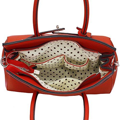 Damas Mujeres Bolsos De Diseño De Grandes De Hombro Bolsos De Las De Estilo Cordero De Diseño De De Imitación orange Piel 6 r0E4wq0x