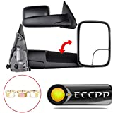 06 dodge tow mirrors - ECCPP Towing Mirrors For 02-08 Dodge Ram 1500 03-09 Ram 2500 3500 Manual Tow Side Pair Set Mirrors