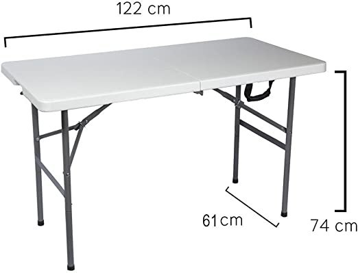 Papillon 8043810 Mesa Plegable Rectangular 122x61x74cm: Amazon.es ...