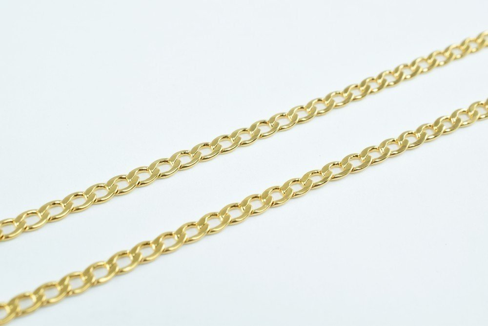 1FOOT New Gold Filled Chain 18K Size 2mm for Jewelry Making GFC43 Sold by Foot